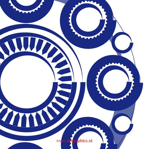 detail Knop BlauwopWit