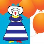 'Circus' Clown missje
