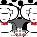 Zwart/Witte dots Missjes