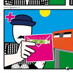 Wisse verrassingsplan post enveloppe roze