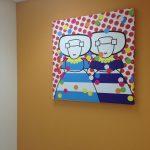 canvas 100 x100 cm 'confetti missjes'