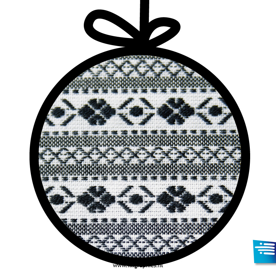Kerstbal bont zwart