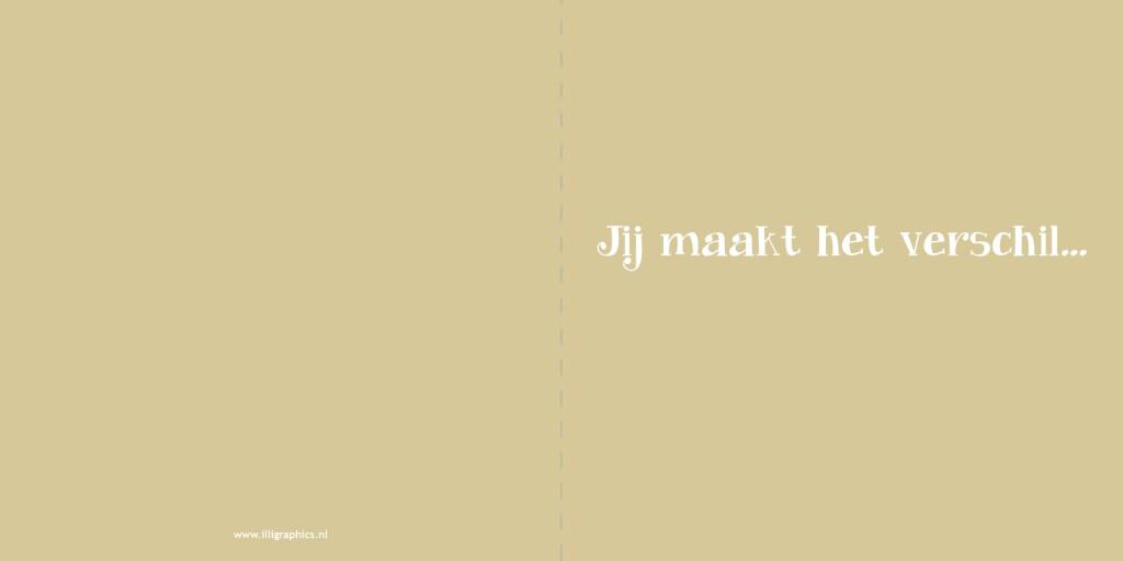 Trouwkaart Zeeuws GOUD tekst