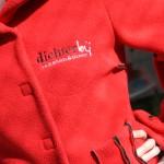 Sweater met opgenaaid logo Dichterbij