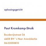 visitekaartje PK
