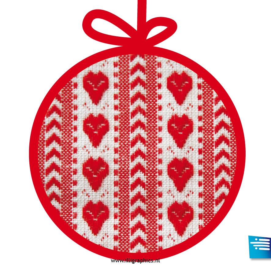 Kerstbal hart rood