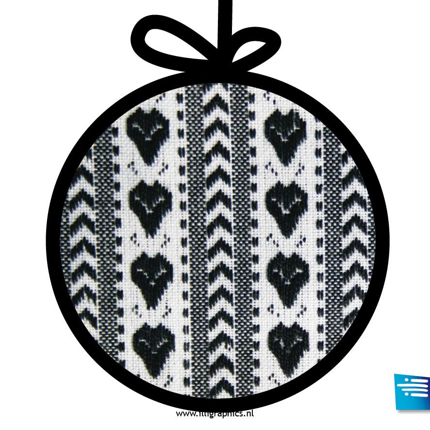 Kerstbal hart zwart